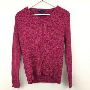 Karen Scott V-Neck Pullover Sweater Size L